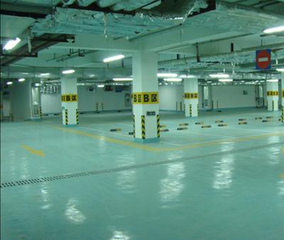 小区地下停车场划线